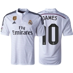 Real Madrid 14/15 JAMES Home Soccer Jersey w/ Club World Cup Badge