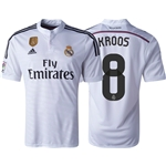 Real Madrid 14/15 KROOS Home Soccer Jersey w/ Club World Cup Badge