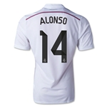 Real Madrid 14/15 ALONSO Authentic Home Soccer Jersey