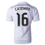 Real Madrid 14/15 CASEMIRO Authentic Home Soccer Jersey