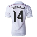 Real Madrid 14/15 CHICHARITO Authentic Home Soccer Jersey