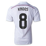 Real Madrid 14/15 KROOS Authentic Home Soccer Jersey