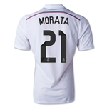 Real Madrid 14/15 MORATA Authentic Home Soccer Jersey