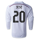 Real Madrid 14/15 JESE LS Home Soccer Jersey
