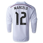 Real Madrid 14/15 MARCELO LS Home Soccer Jersey