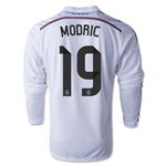 Real Madrid 14/15 MODRIC LS Home Soccer Jersey