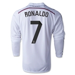 Real Madrid 14/15 RONALDO LS Home Soccer Jersey