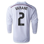 Real Madrid 14/15 VARANE LS Home Soccer Jersey