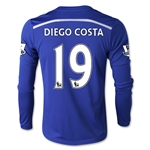 Chelsea 14/15 19 DIEGO COSTA LS Youth Home Soccer Jersey