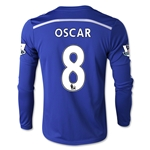 Chelsea 14/15  8 OSCAR LS Youth Home Soccer Jersey