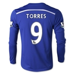 Chelsea 14/15 TORRES LS Youth Home Soccer Jersey