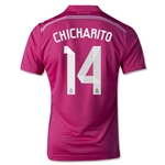Real Madrid 14/15 CHICHARITO Youth Away Soccer Jersey