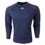 adidas ClimaLite Heathered Long Sleeve T-Shirt (Navy)