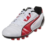 PUMA Universal FG Junior (Black/White/Ribbon Red)