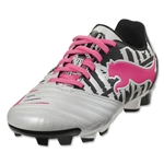PUMA PowerCat 3 Graphic FG Junior (Metallic White/Black/Fluo Pink)