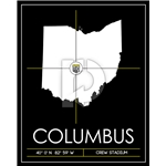 Columbus Crew Map Wall Art