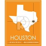 Houston Dynamo Map Wall Art