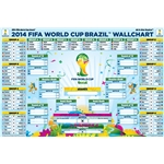 2014 FIFA World Cup Bracket Wallchart Poster