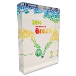 2014 FIFA World Cup Brazil Official Event Poster Acrylic Block Display (English)