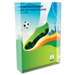 Porto Alegre 2014 FIFA World Cup Brazil Host City Poster Acrylic Block Display