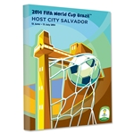 Salvador 2014 FIFA World Cup Brazil Host City Poster Stretched Canvas