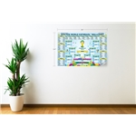 2014 FIFA World Cup Bracket Wallchart Decal