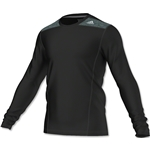 adidas TechFit Fitted Long Sleeve T-Shirt (Black)