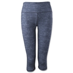 adidas Performer Mid-Rise Static Print 3/4 Tight (Dk Grey)