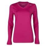 adidas Techfit Long Sleeve T-Shirt (Magenta)