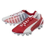 PUMA evoSpeed 2.3 FG (White/High Risk Red/Empire Yellow)