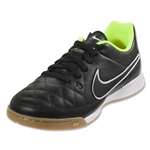 Nike Junior Tiempo Genio Leather IC (Black/Volt)