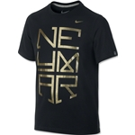 Nike Neymar Logo TD Youth T-Shirt (Black)