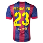 Barcelona 14/15 VERMAELEN Authentic Home Soccer Jersey