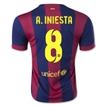 Barcelona 14/15 A. INIESTA Home Soccer Jersey