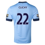 Manchester City 14/15 CLICHY Authentic Home Soccer Jersey
