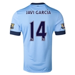 Manchester City 14/15 JAVI GARCIA Authentic Home Soccer Jersey