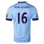 Manchester City 14/15 KUN AGUERO Authentic Home Soccer Jersey