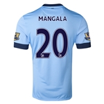 Manchester City 14/15 MANGALA Authentic Home Soccer Jersey