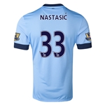 Manchester City 14/15 NASTASIC Authentic Home Soccer Jersey