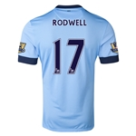 Manchester City 14/15 RODWELL Authentic Home Soccer Jersey
