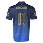 Manchester City 14/15 SINCLAIR Away Soccer Jersey