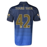 Manchester City 14/15 TOURE YAYA Away Soccer Jersey