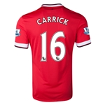 Manchester United 14/15 CARRICK Home Soccer Jersey