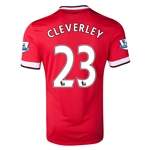 Manchester United 14/15 CLEVERLEY Home Soccer Jersey
