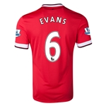 Manchester United 14/15 EVANS Home Soccer Jersey