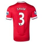 Manchester United 14/15 SHAW Home Soccer Jersey
