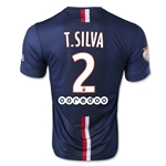 Paris Saint-Germain 14/15 T. SILVA Home Soccer Jersey