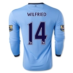 Manchester City 14/15 WILFRIED LS Home Soccer Jersey