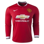 Manchester United 14/15 LS Home Soccer Jersey
