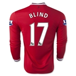 Manchester United 14/15 BLIND LS Home Soccer Jersey
